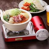 【日本岩谷Iwatani】迷你薄型瓦斯爐攜帶型卡式瓦斯爐CB-JRC-PS-時尚金