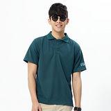FIVE UP(男)-紳士素面吸排POLO衫-深綠
