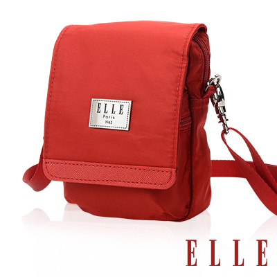 ELLE 法式優雅淑女 收納包/側背包/手機包-鮮紅色EL83478-01