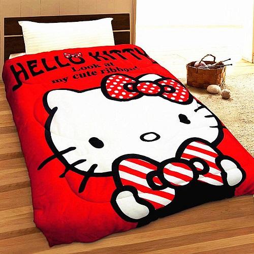 SHINEE 台灣製 HELLO KITTY 我的小可愛-紅 凱蒂貓法蘭絨暖暖毯被