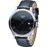 天梭 TISSOT Tradition系列 懷舊古典時尚腕錶 T0636101605800 黑