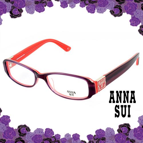 Anna Sui 安娜蘇 經典花園紫色框造型眼鏡(紫玫) AS500706