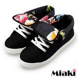 【Miaki】MIT 帆布鞋經典潮流休閒鞋包鞋 (黑色)