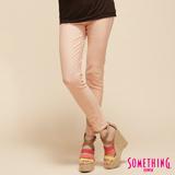 SOMETHING LADIVA窄直筒合身牛仔褲-女-淺粉紅 M