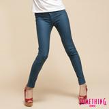 SOMETHING LADIVA窄直筒合身牛仔褲-女-灰藍色 S