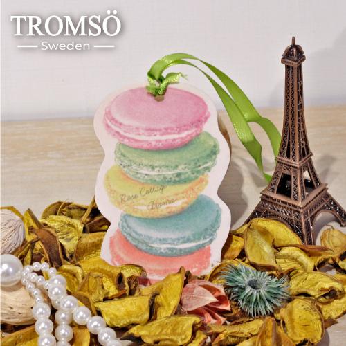 TROMSOx魅力法國-氛享巴黎吊繩香氛片-馬卡龍-香草(6入)
