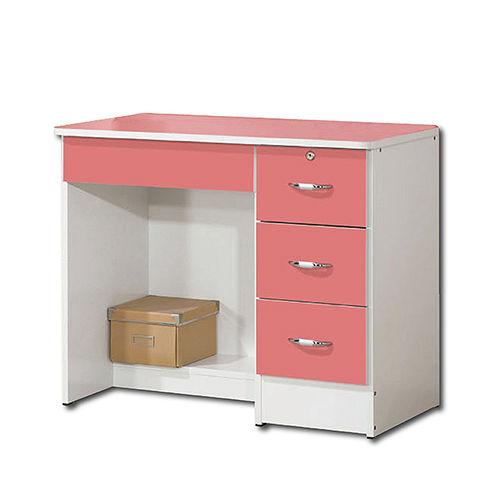 【AS】甜美粉桃3尺書桌