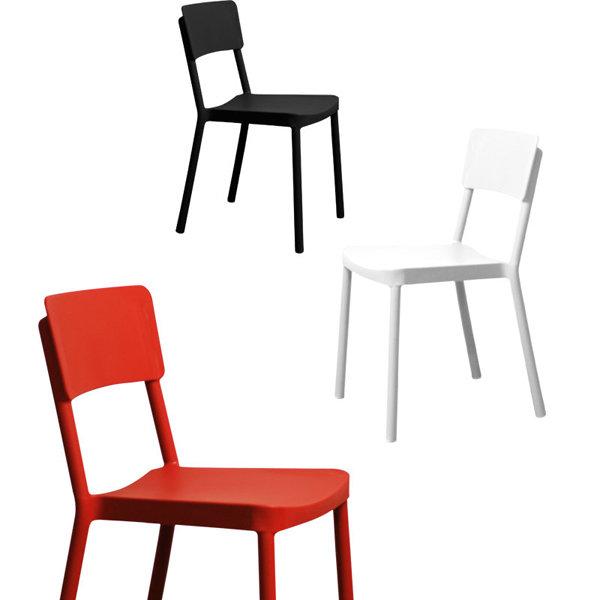 【空間生活】米迪餐椅-兩入(黑*白*紅)
