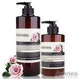 Arenes玫瑰香氛髮絲鎖水修護組(洗髮露+護髮素)
