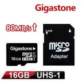 Gigastone 16GB MicroSDHC UHS-I 高速記憶卡(附轉卡)