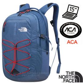 【美國 The North Face】新款 BOREALIS 輕量抗撕裂多功能後背包28L(日用電腦書包 可容15吋筆電 美國脊椎協會認證)/CHK4 月光藍/紅
