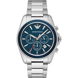 【EMPORIO ARMANI】EMPORIO ARMANI 亞曼尼 AR6091探險者計時腕錶/藍面44mm(AR6091)