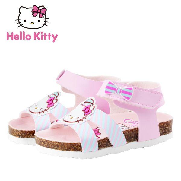【MODAbobo】Hello Kitty 童鞋 小中童 女童涼鞋-粉 814643