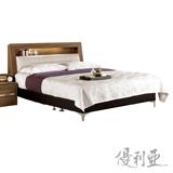 【優利亞-柏倫】雙人5尺床頭箱+皮床底