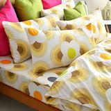 美夢元素 台灣製天鵝絨 風鈴花海 單人二件式床包組