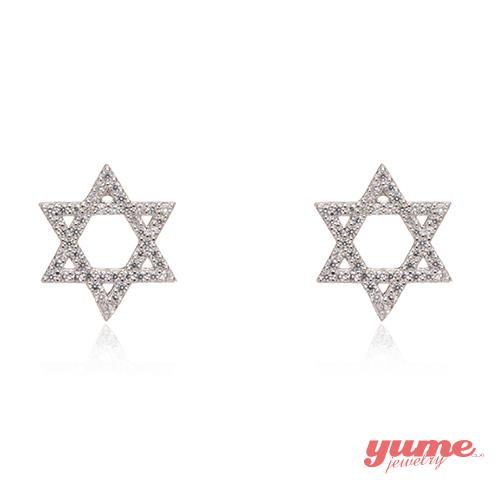 【YUME】六芒星鑽耳環