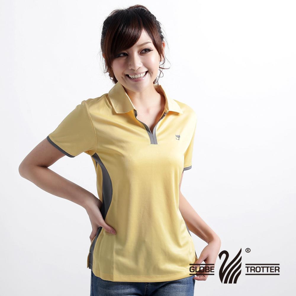【遊遍天下】 女款顯瘦抗UV吸濕排汗POLO衫(黃-M-5L) (品特)