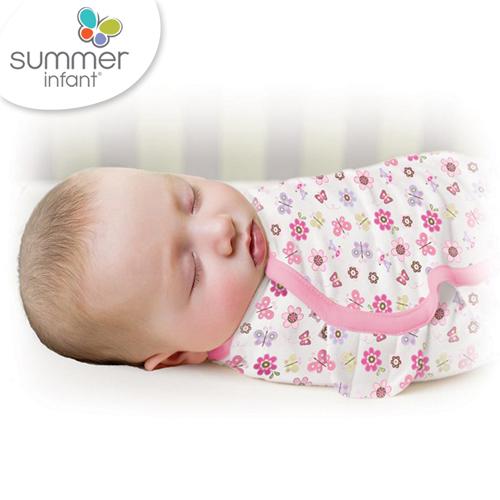 美國Summer Infant 聰明懶人育兒包巾-加大,蝴蝶花朵