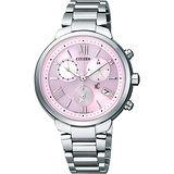 CITIZEN XC 浪漫城市鈦金屬光動能計時腕錶-粉紅/35mm FB1330-55W