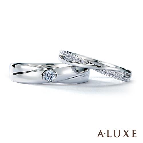 A-LUXE 亞立詩鑽石 18K金情侶結婚對戒-男女對戒
