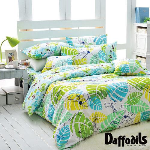 Daffodils 香草天空 雙人加大四件式純棉被套床包組,精梳純棉/台灣精製