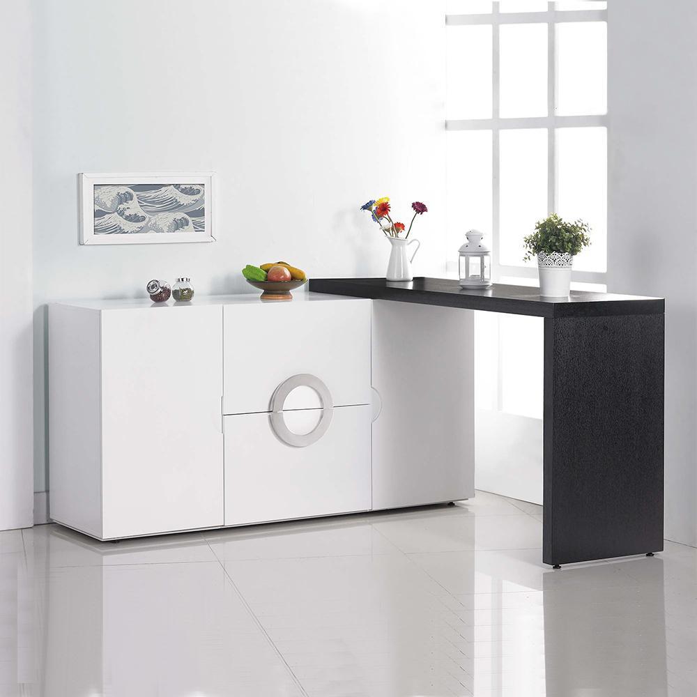 AT HOME~帕克5尺白色伸縮餐櫃