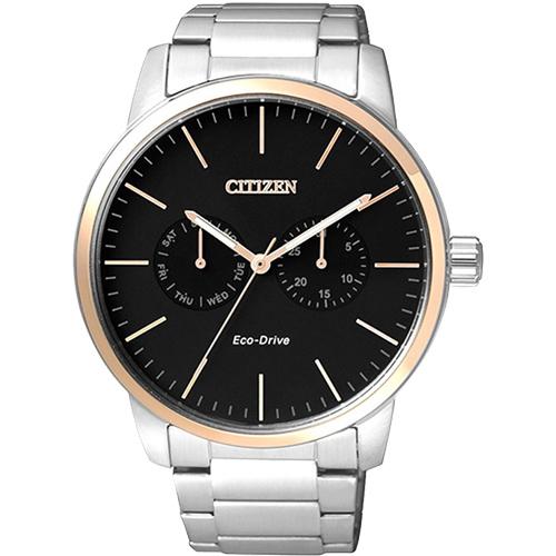CITIZEN Eco-Drive光動能日曆腕錶-藍/ 44mm AO9040-52L