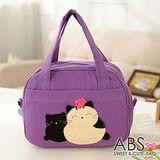 ABS貝斯貓 可愛貓咪手工拼布手提包/提袋 (典雅紫) 88-023