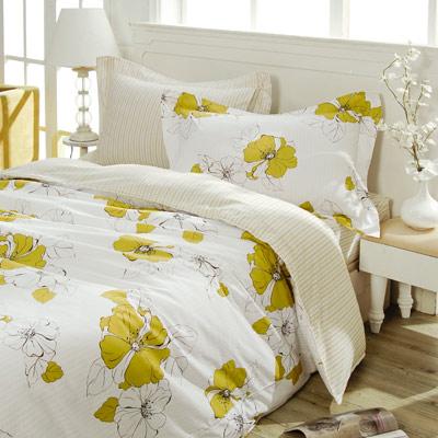 義大利La Belle《夏日閒情》雙人純棉床包枕套組
