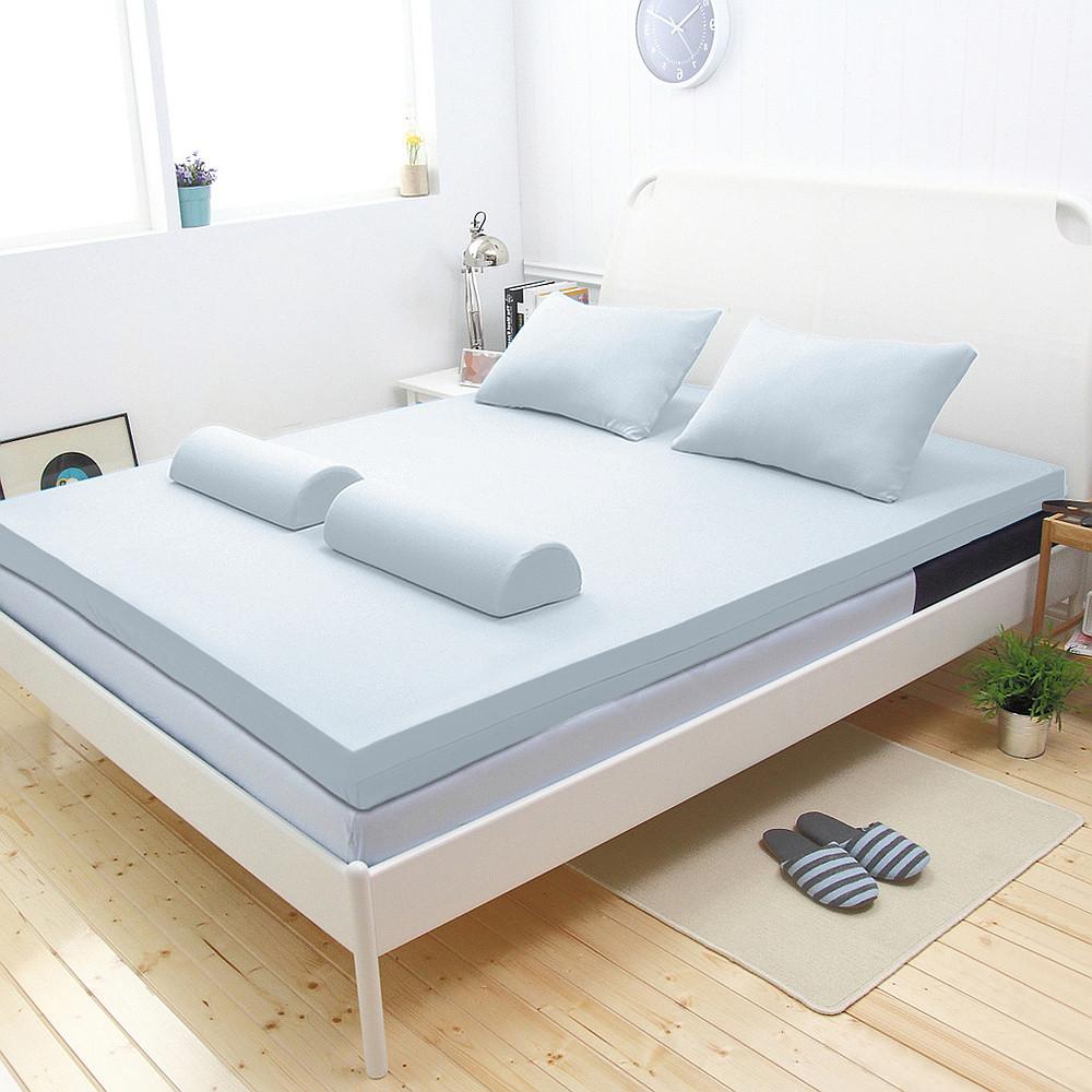 【輕鬆睡-EzTek】新雙層竹炭釋壓記憶床墊(雙人加大8cm全平面)
