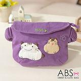 ABS貝斯貓-可愛貓咪手工拼布小朋友腰包/手提包(典雅紫)88-033