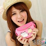 ABS貝斯貓-可愛貓咪手工拼布小朋友腰包/手提包(甜心粉)88-033