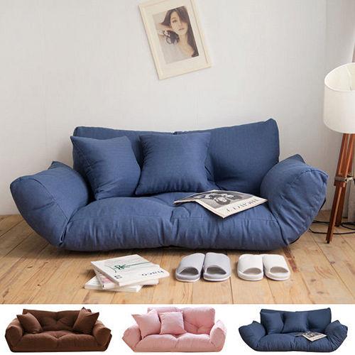 Peachy life 5段式雙人激厚款扶手沙發床/和室椅(3色可選)