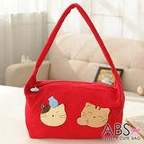 ABS貝斯貓-可愛貓咪手工拼布肩背包/手提包88-021-活力紅