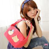 ABS貝斯貓-可愛貓咪手工拼布肩背包/手提包88-021-甜心粉