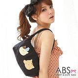 ABS貝斯貓-可愛貓咪手工拼布肩背包/手提包88-021-時尚黑
