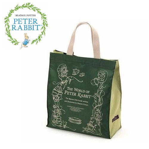 【クロワッサン科羅沙】Peter Rabbit~ 經典比得兔story手提袋 (大) 綠色