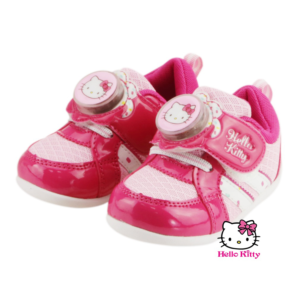 【MODAbobo】Hello Kitty 小中童段 繽紛電燈休閒鞋-桃 T6S8-716213