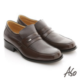 【A.S.O】舒活系列 雙色俐落方楦奈米紳士鞋(咖啡)