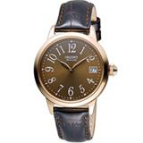 ORIENT 東方錶 花漾時光機械腕錶 FAC06001T 咖啡x玫瑰金色