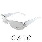 EXTE 時尚膠框近視平光眼鏡(白) EX22504