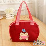 ABS貝斯貓 HAHA開心貓咪拼布包 小型肩提包(活力紅)88-183