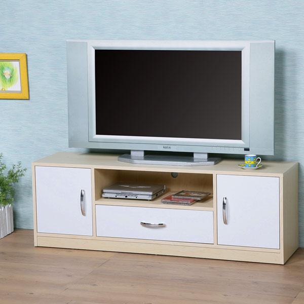 ~Homelike~清新森林電視櫃~楓木 白色