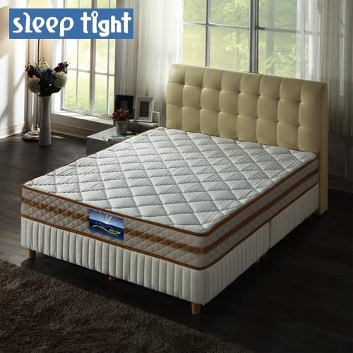 【Sleep tight】二線3M防潑水/防蹣抗菌/一面蓆護背硬式床墊(一般型)-6尺雙人加大