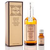 Parfum 巴黎帕芬 經典香水摩洛哥胜肽護髮油100ml(鳶尾花)+護髮油10ml(隨機)