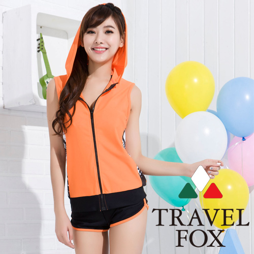 【TRAVELFOX 旅狐】 大女長版四件式泳衣 (C15725)