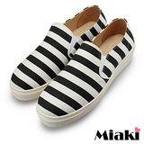 【Miaki】MIT 懶人鞋東大韓流平底休閒帆布鞋 (黑色)