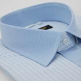【金安德森】藍色格紋變化領門襟窄版短袖襯衫