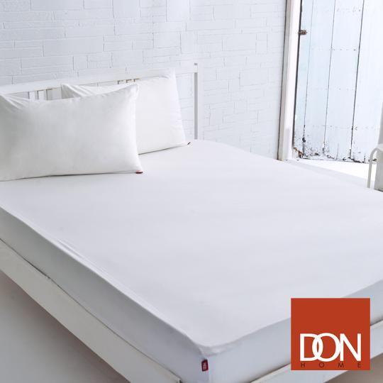 《DON 原色時尚》雙人200織精梳純棉床包枕套三件組-優雅白
