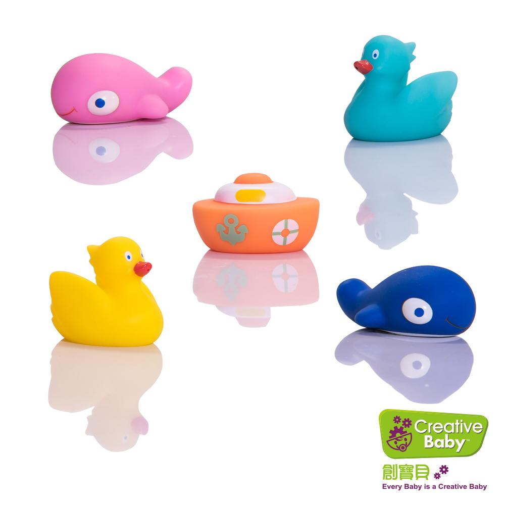美國【Creative Baby】創寶貝 - 水上樂園噴水洗澡玩具(Great Lakes Bath Squirt Toys)